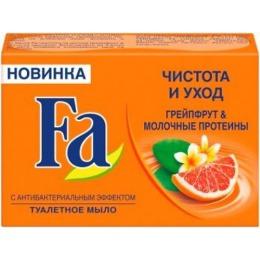 """Fa мыло """"Чистота и Уход. Грейпфрут и молочные протеины"""", 90 г"""
