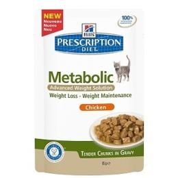 "Hill's пауч для кошек ""Prescription diet meta"" коррекция веса"