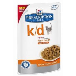 """Hill's пауч для кошек """"Prescription diet"""" k/d для почек  с курицей"""