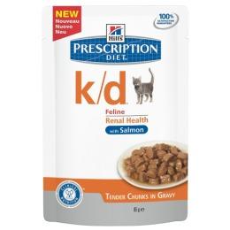 """Hill's пауч для кошек """"Prescription diet"""" k/d для почек с лососем"""