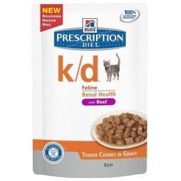 """Hill's пауч для кошек """"Prescription diet"""" k/d для почек с говядиной"""