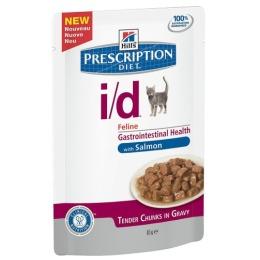 """Hill's пауч для кошек для желудочно-кишечного тракта """"Prescription diet"""" i/d c лососем"""