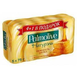 """Palmolive мыло """"Натурэль. Нежность шелка"""" с экстрактом молока и меда, 5 х 70 г"""