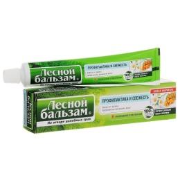 """Лесной бальзам зубная паста """"Профилактика и свежесть"""" с экстрактом ромашки и маслом облепихи на отваре трав, 75 мл"""