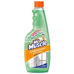 Мистер Мускул чистящее и моющее средство для стекол с нашатырным спиртом, сменная бутылка