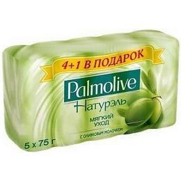 "Palmolive мыло ""Натурэль. Мягкий уход"" с оливковым молочком, 5 х 70 г"