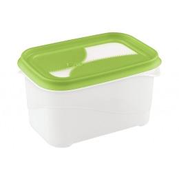"""Бытпласт контейнер """"Ziplook"""" для холодильника и микроволновой печи 1 л"""