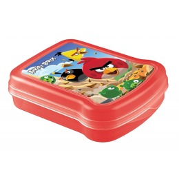Бытпласт контейнер для бутербродов с декором Angry Birds