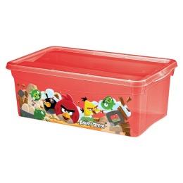 Бытпласт ящик универсальный с декором Angry Birds 5 л