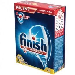 "finish средство для мытья посуды в посудомоечных машинах ""All in1"" Лимон, в таблетках"