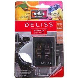 """Deliss освежитель воздуха """"Romance и Joy"""" мембранный для автомобиля, 2 аромата"""