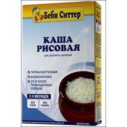 "Беби Ситтер каша ""Рисовая"", с 4 месяцев, 200 г"