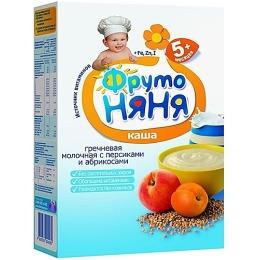 """Фруто Няня каша """"Гречневая. Молоко, персик, абрикос"""" с 4 месяцев, 200 г"""