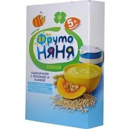 """Фруто Няня каша """"Пшеничная. Молоко, тыква"""" с 5 месяцев, 200 г"""
