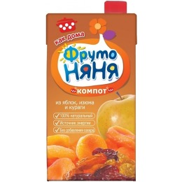 "Фруто Няня компот ""Яблоко, изюм, курага"" с 3 лет, 500 мл"