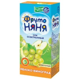 """Фруто Няня сок """"Яблоко, виноград"""" с 6 месяцев, 170 мл"""