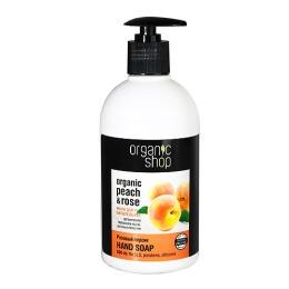 """Organic Shop мыло жидкое """"Розовый персик"""", 500 мл"""