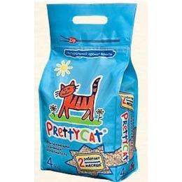 """Pretty Cat наполнитель для кошачьих туалетов """"Aroma fruit"""" впитывающий, 4 кг"""