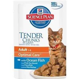 """Hill's корм для взрослых кошек """"Science plan"""" с рыбой, пауч, 85 г"""