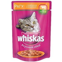 """Whiskas корм """"Рагу. Телятина, индейка"""", 85 г"""