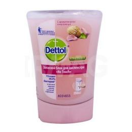 Dettol мыло с ароматом розы и маслом Ши, запасной блок, 250 мл
