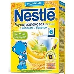 """Nestle каша сухая молочная """"Мультизлаковая. Яблоко, банан"""", 35 г"""