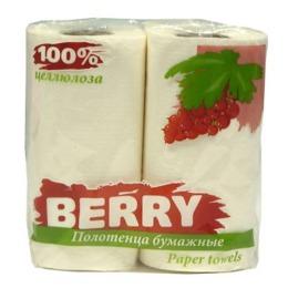 Berry полотенца бумажные однослойные белые