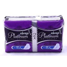 """Always прокладки """"Ultra Platinum Collection Night Duo"""" женские гигиенические"""
