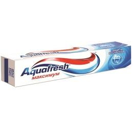 """Aquafresh зубная паста """"Максимум"""" + зубная щетка """"Фемили""""средняя"""