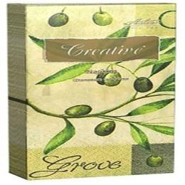 """Aster салфетки """"Creative snacks. Олива"""" трехслойные 33х33 см"""