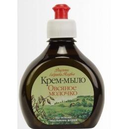 """Рецепты бабушки Агафьи крем-мыло """"Овсяное молочко"""", 300 мл"""
