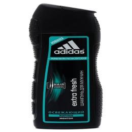 """Adidas шампунь освежающий """"Extra Fresh Shampoo For Men"""" с ментолом для склонных к жирности волос"""