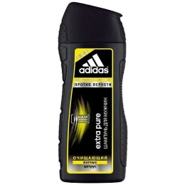 """Adidas шампунь очищающий """"Extra Pure Anti-dandruff Shampoo For Men"""" против перхоти с цитрусом для склонных к жирности волос"""