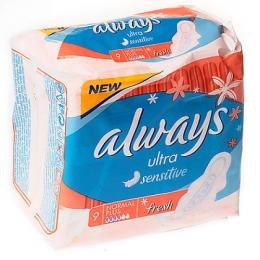 "Always прокладки ""Ultra Sensitive Fresh Normal Plus Single"" женские гигиенические"