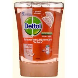"""Dettol жидкое мыло """"No Touch"""" с ароматом грейпфрута, запасной блок, 250 мл"""