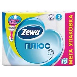 "Zewa туалетная бумага ""Плюс"" 2 слойная, 12 шт"