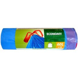 Paclan мешки для мусора с завязками эконом 60л 15шт