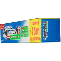 "Aquafresh зубная паста ""3+ мягко-мятная"""