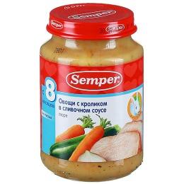 """Semper пюре """"Овощи с кроликом в сливочном соусе"""""""