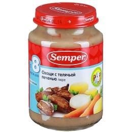 """Semper пюре """"Овощи с телячьей печенью"""""""