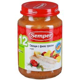 """Semper пюре """"Овощи с филе трески"""""""