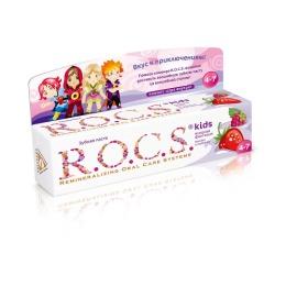 """R.O.C.S. зубная паста для детей """"Малина и клубника"""""""