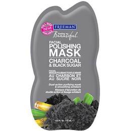 Freeman полирующая маска для лица активированный уголь и черный сахар, 15 мл