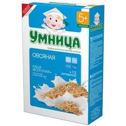 """Умница каша молочная """"Овсяная"""" с 5 месяцев"""