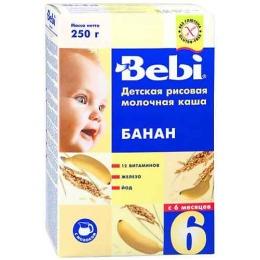 """Bebi каша молочная """"Рисовая с бананом"""" с 6 месяцев"""