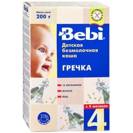 """Bebi каша безмолочная """"Греча"""" с 4 месяцев"""