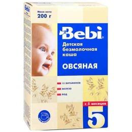"""Bebi каша безмолочная """"Овсянка"""" с 5 месяцев"""