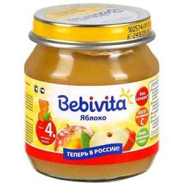 """Bebivita пюре """"Яблоко"""" с 4 месяцев"""