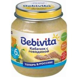 """Bebivita пюре """"Кабачок с говядиной"""" с 6 месяцев"""