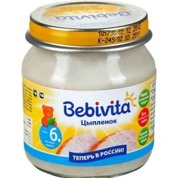 """Bebivita пюре """"Цыпленок"""" с 6 месяцев"""